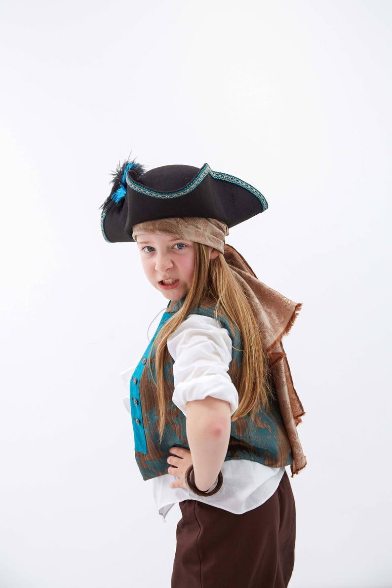 Kids Pirate Costume Bandana Boys Pirate Hat Accessories Pirate Princess Sash Pirate Head Scarf Captain Hook Bandana
