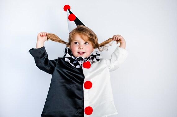 Harlekin Kostum Pierrot Verkleidung Schwarz Weiss Clown Etsy