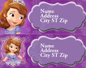 Sophia the First Address Labels