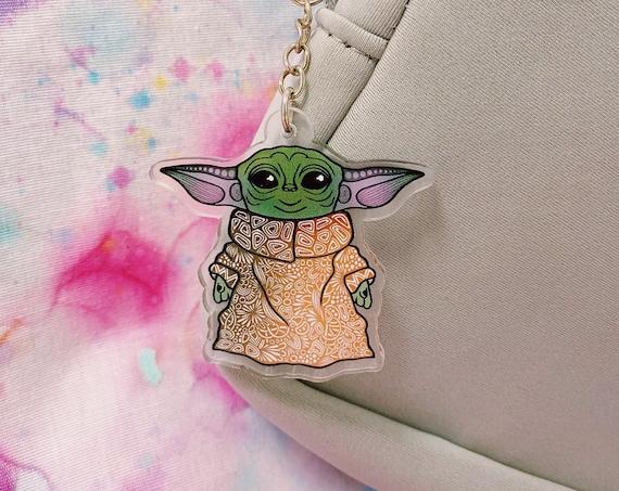 Baby Yoda Acrylic Keychain