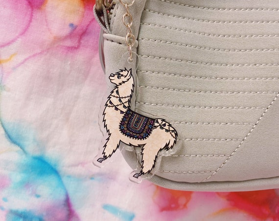 Llama Acrylic Keychain