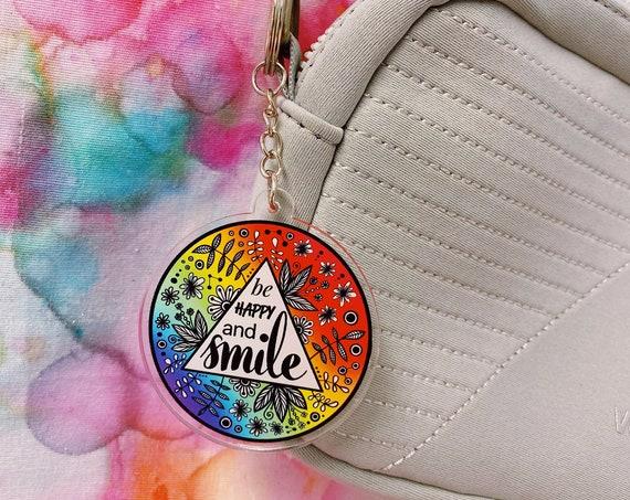 Smile Acrylic Keychain
