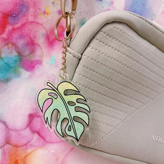 Palm Leaf Acrylic Keychain