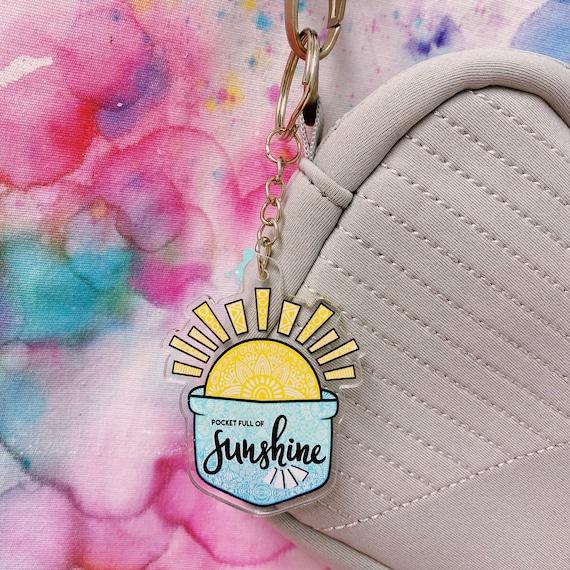 Sunshine Acrylic Keychain