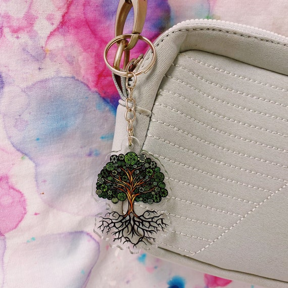 Tree Acrylic Keychain