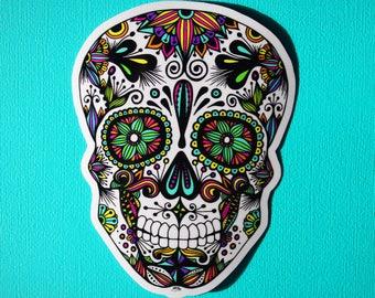 Sugar Skull Sticker WATERPROOF