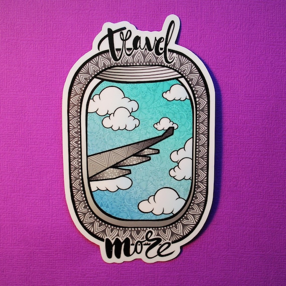 Travel More Sticker (WATERPROOF)