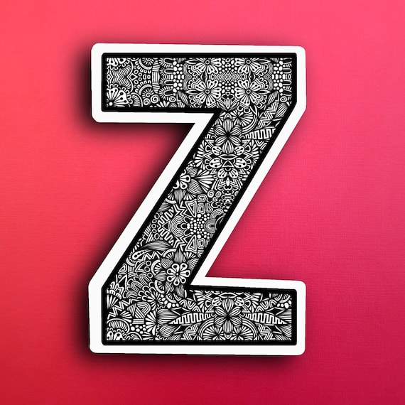 Small Block Letter Z Sticker (WATERPROOF)