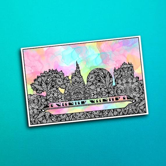 Magical Skyline Sticker (WATERPROOF)