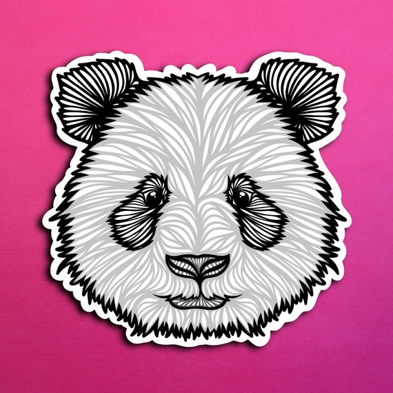 Panda Sticker (WATERPROOF)