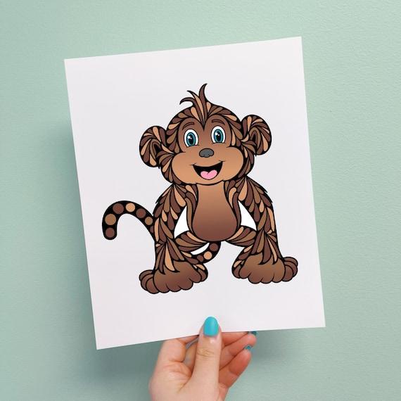 Miles the Monkey Print