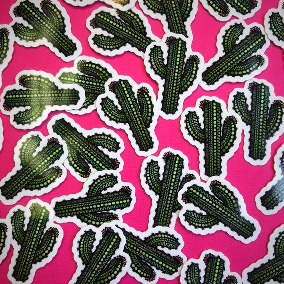 Mini Cactus Sticker (WATERPROOF)
