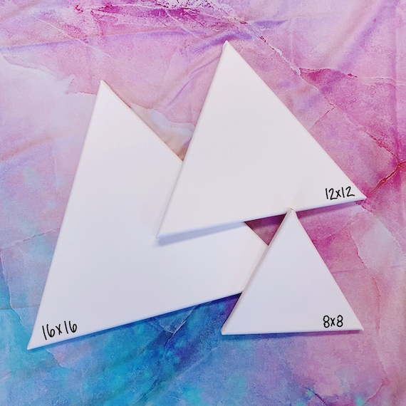 CUSTOM Triangle Alcohol Ink Canvas