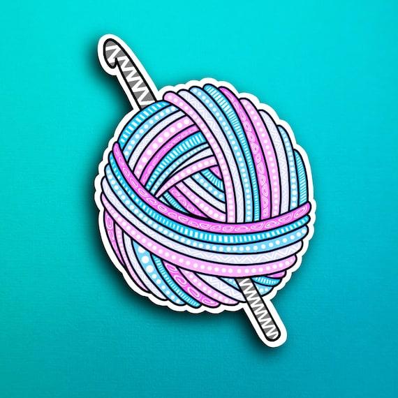 Crochet Sticker (WATERPROOF)
