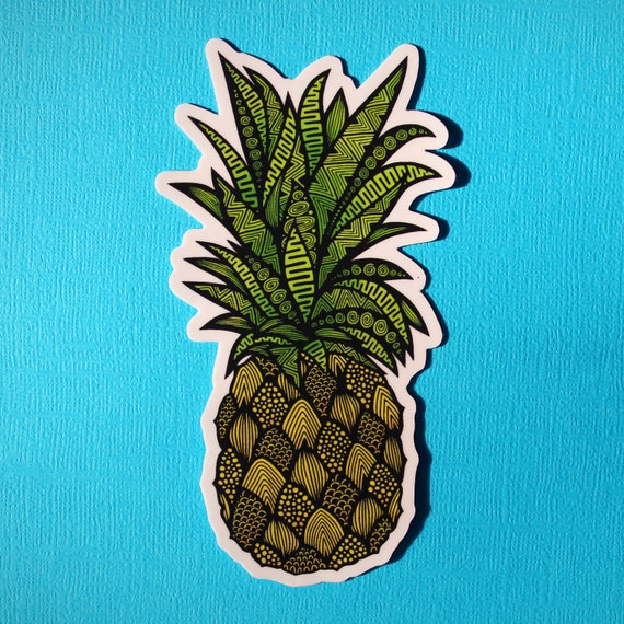 Pineapple Sticker (WATERPROOF)