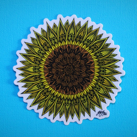 Sunflower Sticker (WATERPROOF)