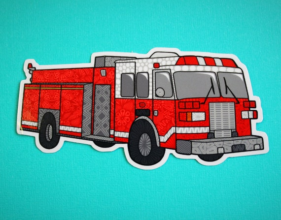 Fire Truck Sticker (WATERPROOF)