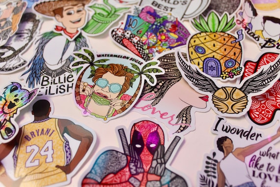 Characters Themed Mystery Pack (5 waterproof stickers)