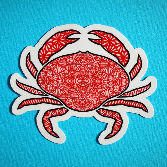 Crab Sticker (WATERPROOF)