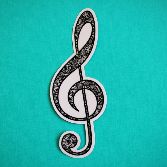 Treble Clef Sticker (WATERPROOF)