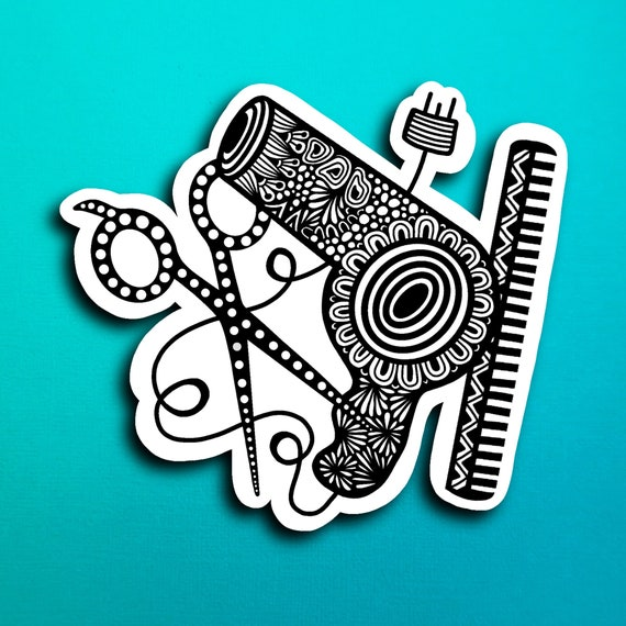 Hair Stylist Sticker (WATERPROOF)