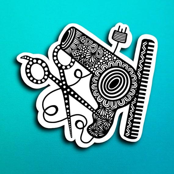 Hair Stylist Sticker (WATERPROOF)