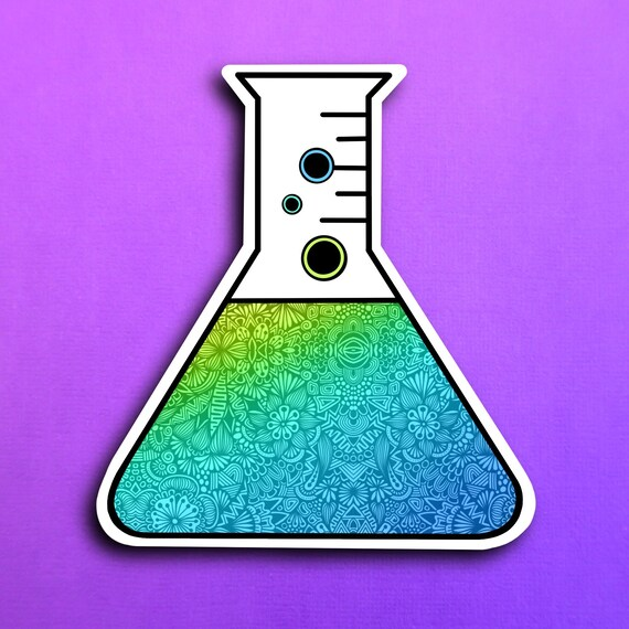 Erlenmeyer flask Sticker (WATERPROOF)