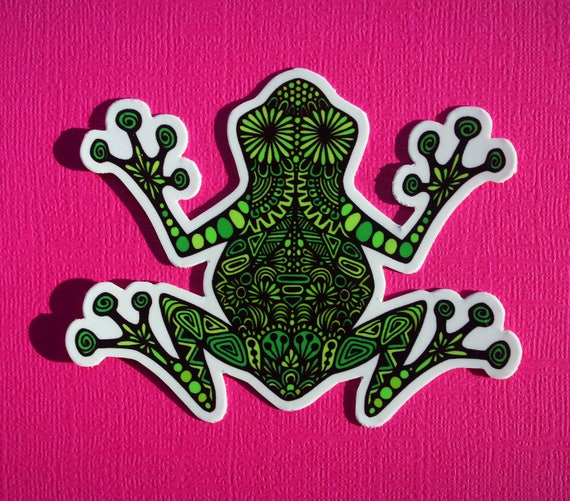 Frog Sticker (WATERPROOF)
