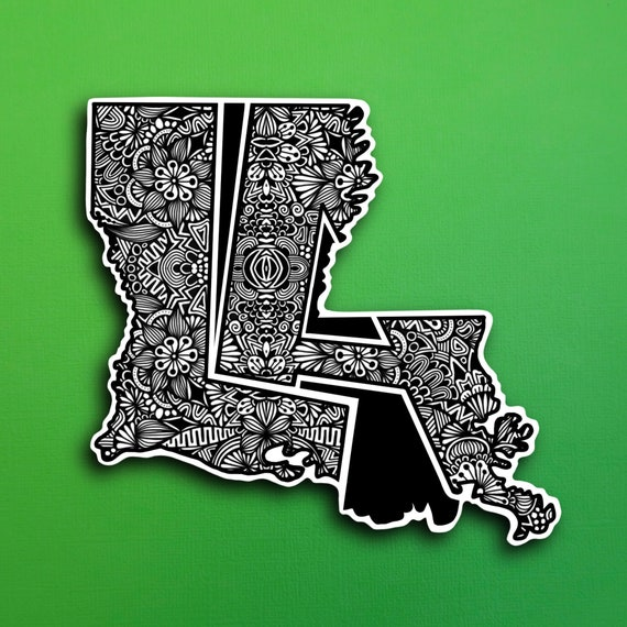 Louisiana Sticker (PRE-ORDER) (WATERPROOF)