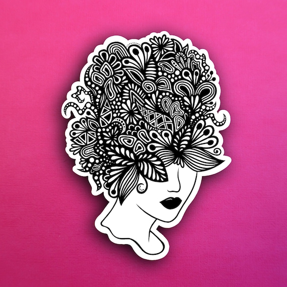 Floral Hair Sticker (WATERPROOF)