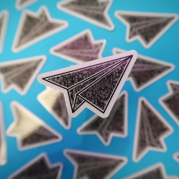 Mini Paper Plane Sticker (WATERPROOF)