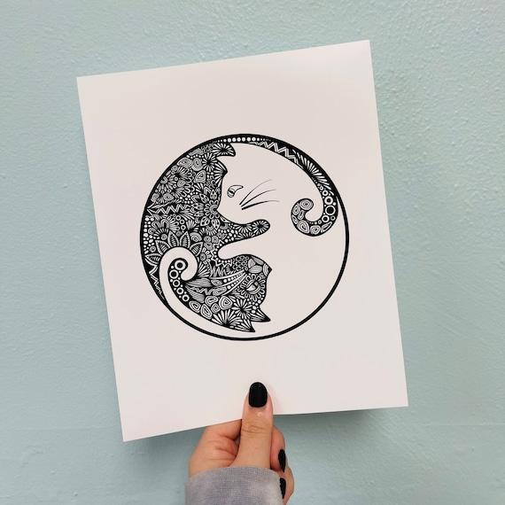 Yin Yang Print