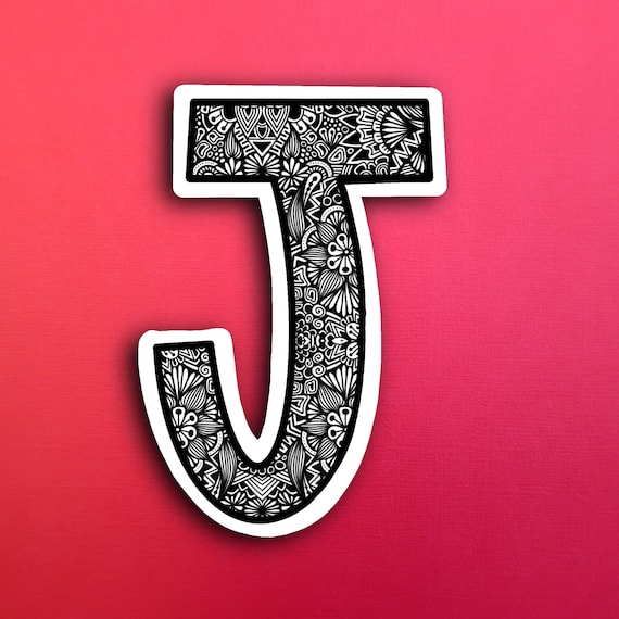 Small Block Letter J Sticker (WATERPROOF)