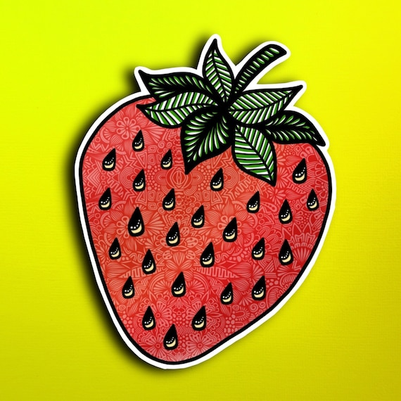 Strawberry Sticker (WATERPROOF)