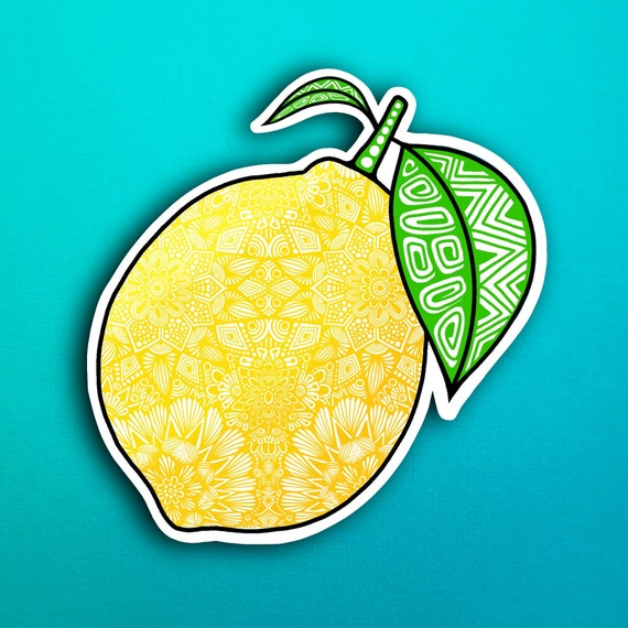 Lemon Sticker (WATERPROOF)
