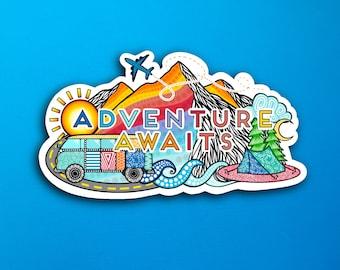 Adventure Awaits Sticker (WATERPROOF)