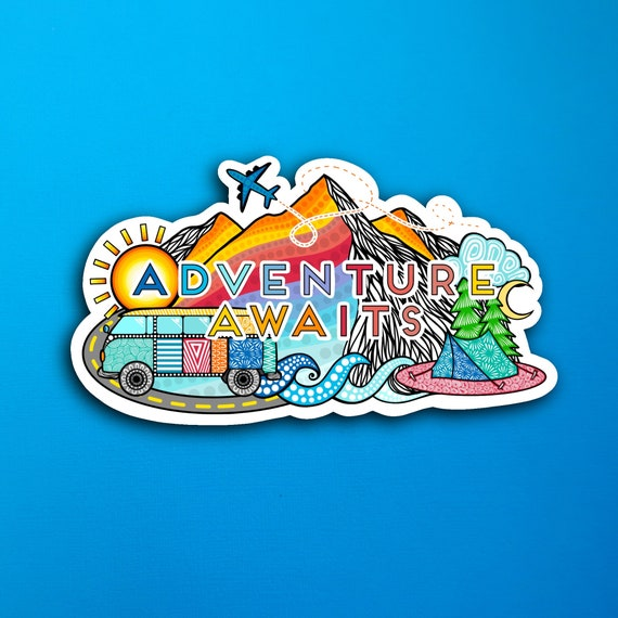 Adventure Awaits Sticker (WATERPROOF)