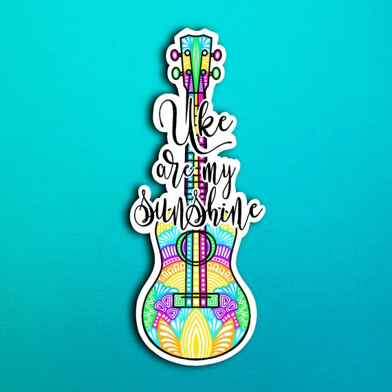 Ukulele  Sticker (WATERPROOF)