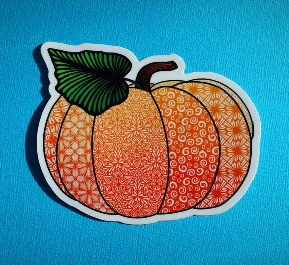 Pumpkin Sticker (WATERPROOF)