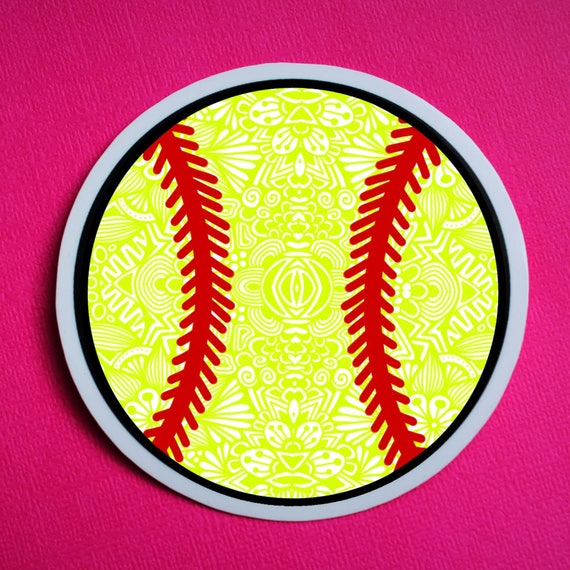 Softball Sticker (WATERPROOF)