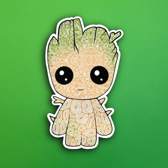 Baby Groot Sticker (WATERPROOF)