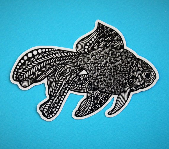 B&W Fish Sticker (WATERPROOF)