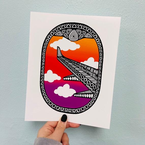 Airplane Window Print