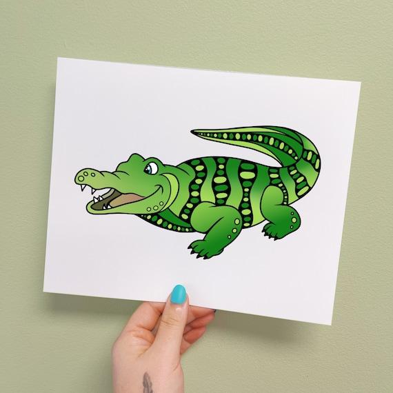 Anderson the Alligator Print