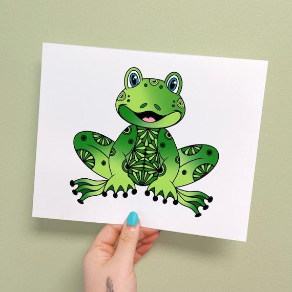 Fredi the Frog Print
