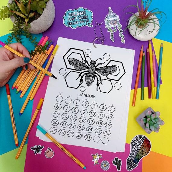 2019 Coloring Book Calendar!