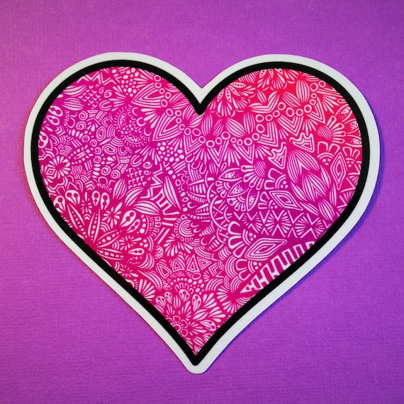 Pink Heart Sticker (WATERPROOF)