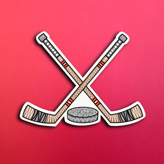 Hockey Sticker (WATERPROOF)