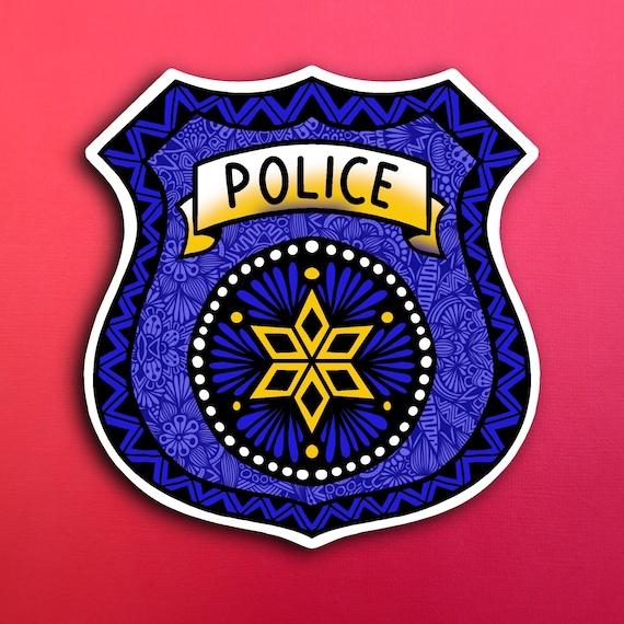 Police Badge Sticker (WATERPROOF)