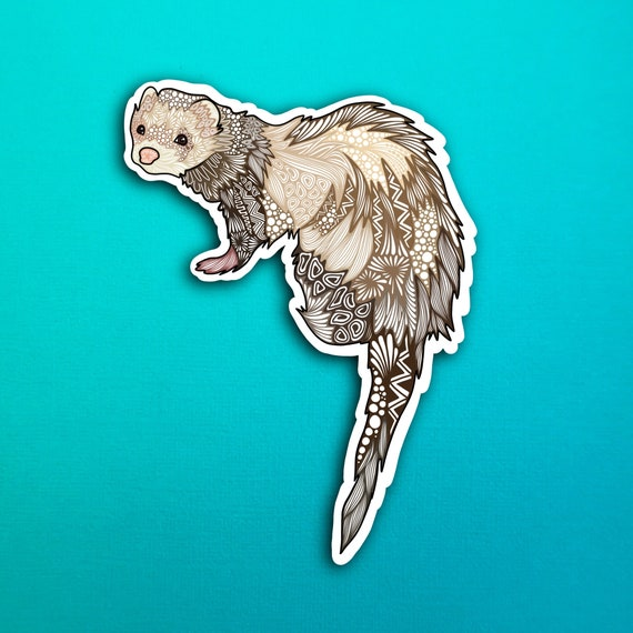 Bandit the ferret Sticker (WATERPROOF)